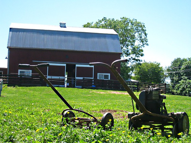 old fashioned lawn mowers flickr photo sharing. Black Bedroom Furniture Sets. Home Design Ideas