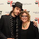 Guest artist Cory Chisel with WFUV Music Director Rita Houston. May 5, 2010 at Gotham Hall, NYC.