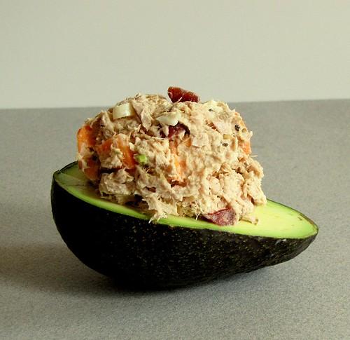 Crab or Tuna Salad in Avocado Halves