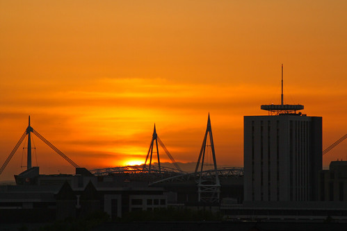 Cardiff City Sunset