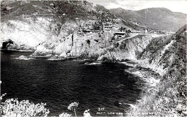 LA QUEBRADA Y HOTEL EL MIRADOR 1942