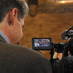 16. Broadcasters interview new Members of Parliament in Westminster Hall