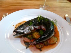 Mackerel with Caperberries and Roasted Vegetables