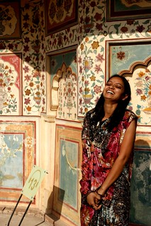 Laughing.  Jaipur