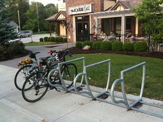 The Roasterie's bike racks