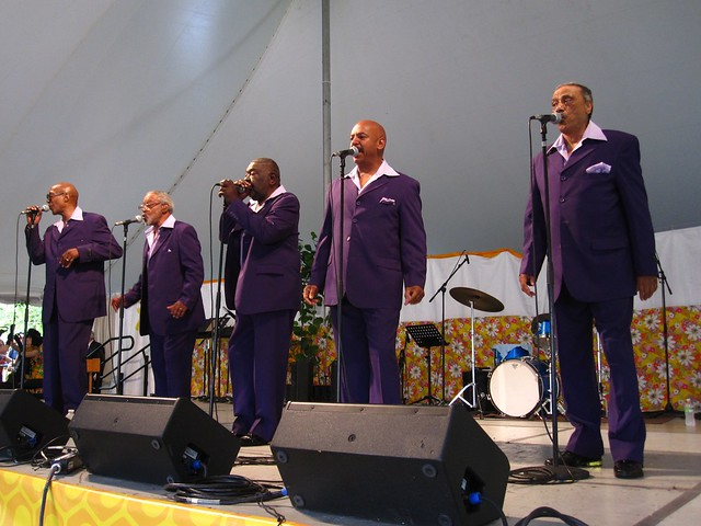 Brooklyn's own kings of a cappella, The Persuasions. Photo by Rebecca Bullene.