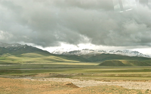 Descending the Torugart Pass in Kyrgyzstan