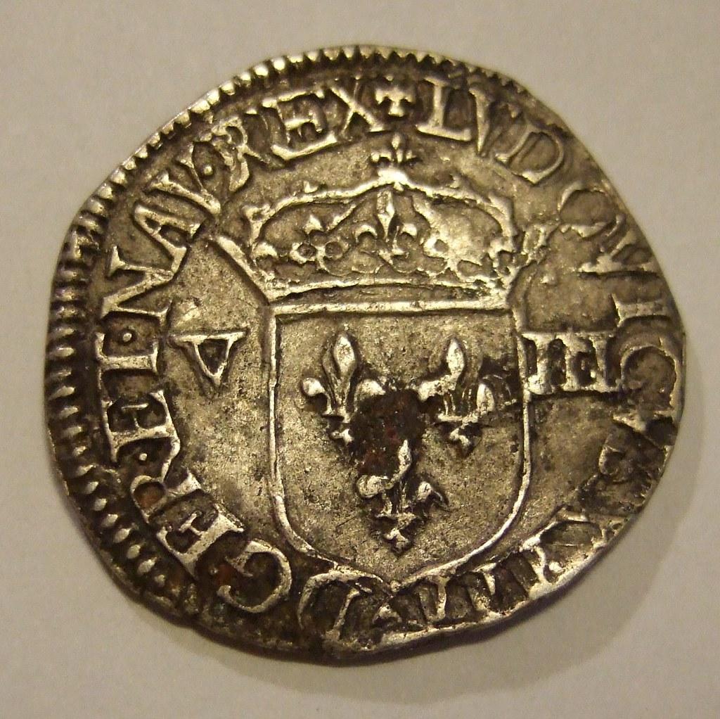 FRANCE, LOUIS XIII, 1643 ---HALF ECU b