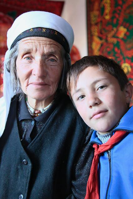 タシュクルガン、青い瞳のタジク族