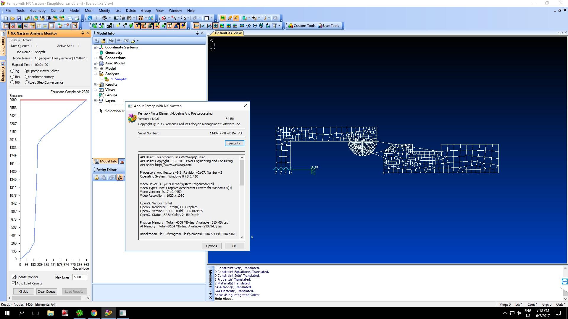 Working with Siemens FEMAP v11.4.0 with NX Nastran 64bit full