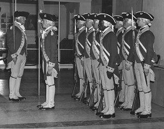 Photograph of Honor Guard at Exhibit Opening