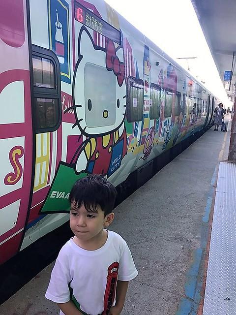 林佳蓉母子坐往花蓮火車 (4)