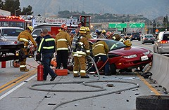 Trio Critically Injured in North Hills Freeway Collision