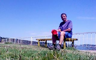 Vidin, bankje aan de Donau.