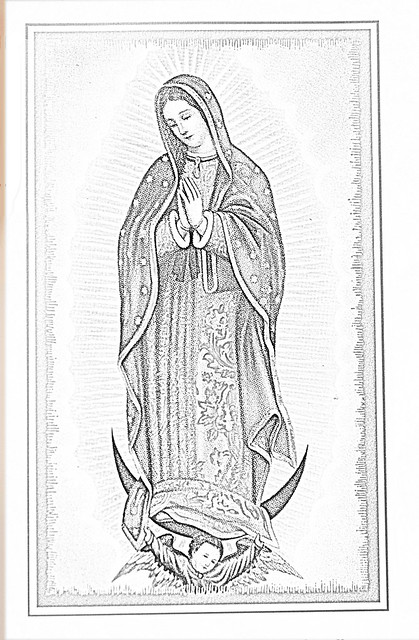 lady of guadalupe coloring pages - photo#22