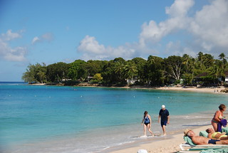 Barbados beach view of the Caribbean