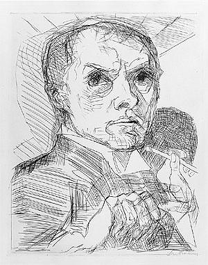 Self-Portrait with a Stylus, 1916 Max Beckmann (German, 1884–1950)