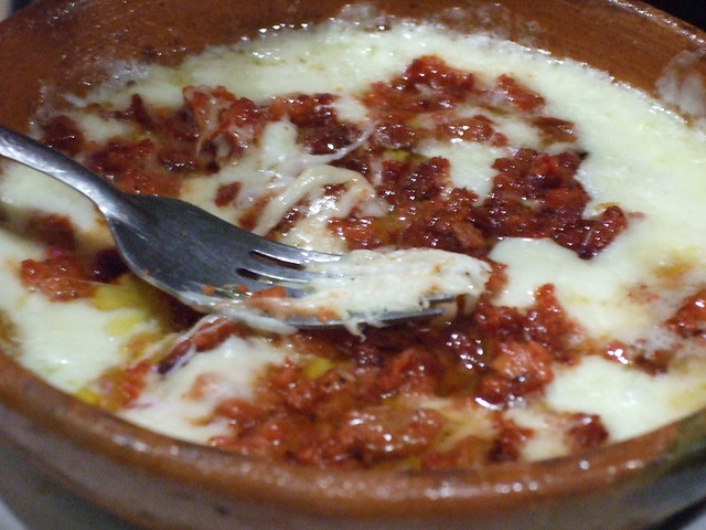 Choriqueso - melted chorizo and cheese served with tortillas in Mexico ...