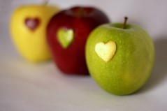 yellow, green, produce, fruit, food, granny smith, apple,