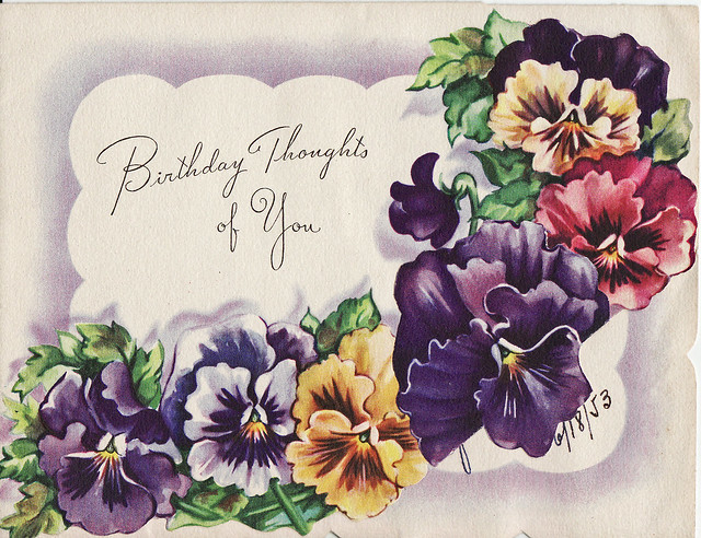 Old Fashioned Birthday Cards For Women
