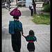 She and Mini-me,  the dock, Panajachel, Guatemala