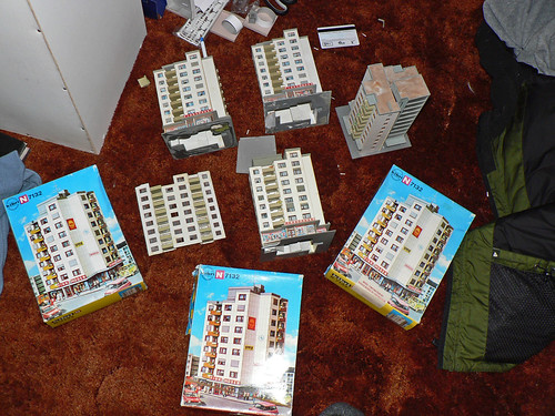 New n scale apartment building project kibri 7132 kitbash for The model apartment play