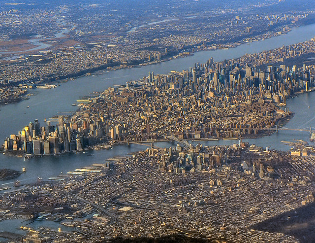 Manhattan from the air...
