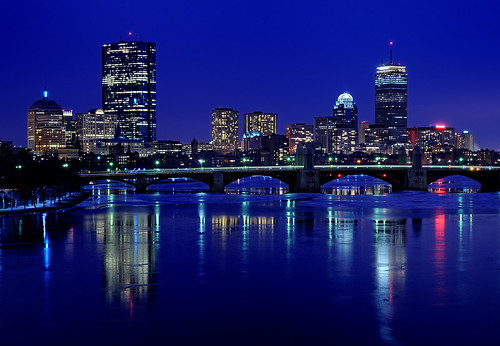 city boston skyline night train charlesriver explore mbta redline longfellowbridge d300 explored 2470mmf28g nikonjim