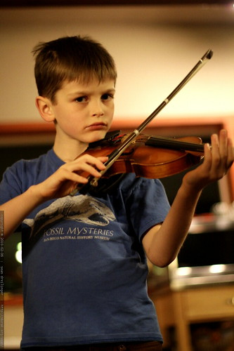 nick practicing violin after dinner - _MG_4905.embed