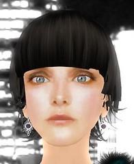 nose, bangs, black hair, chin, face, hairstyle, brown, head, hair, cheek, bob cut, wig, eye,