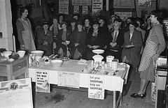 War-time food and cookery demonstrations at Messrs D. R. Davies, Ironmongery Shop, Newtown