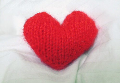 Knitting Heart Motif : Knitting patterns heart � free