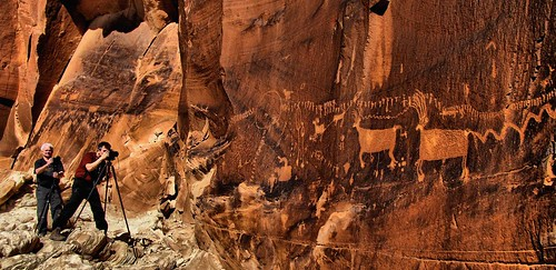 Rock art panel near Bluff, Utah by Red Dirt Dawg