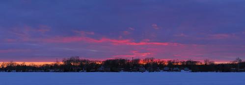 sunset panorama michigan whitmorelake