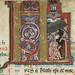The Hunterian Psalter: Calendar. Historiated 'K' from February.