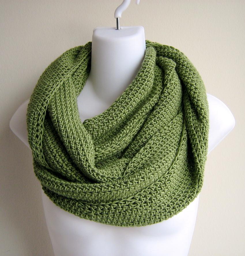 Knitting Pattern Lightweight Scarf : SAMANTHA- Lightweight Scrolling Infinity Scarf Solid Leaf ? Flickr - Photo ...