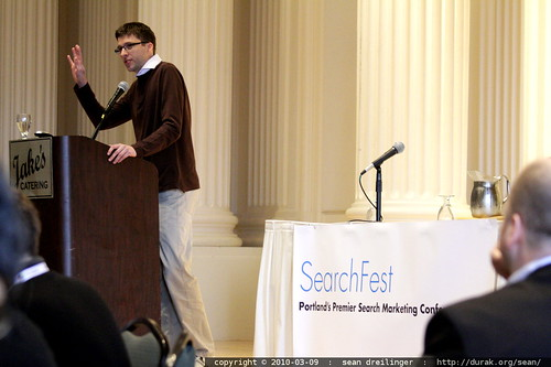 stefan weitz of microsoft bing delivering the searchfest 2010 keynote address