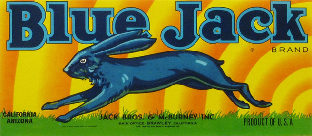 Blue-Jack fruitc crate label art