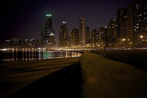 beautiful chicago night