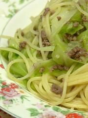 挽肉とキャベツのスパゲティ