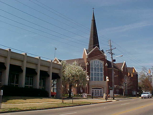 Calvary Baptist Church In Downtown Tupelo, Mississippi.
