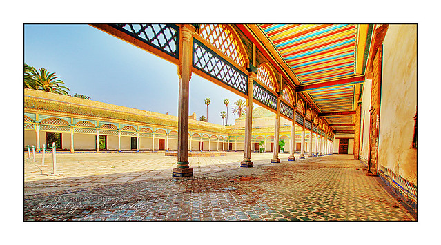 Marrakech Colourful Old Palace (El Bahia Palace)