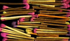 pencil(0.0), produce(0.0), match(1.0), wood(1.0), pink(1.0),