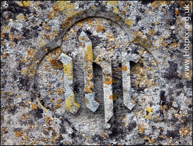 365-296 IHR Gravetone Inscription, St Mary The Virgin Church, Wansford, Peterborough UK