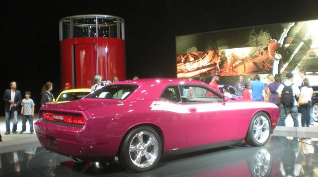 New York Auto Show 2010 Purple Dodge Challenger R T