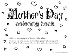 Mothers Day Coloring Book - Title Page