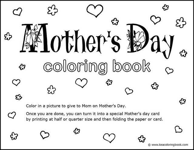 Mothers Day Coloring Book Title Page Flickr Photo