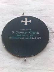 Photo of St Crowche's Church, Norwich green plaque