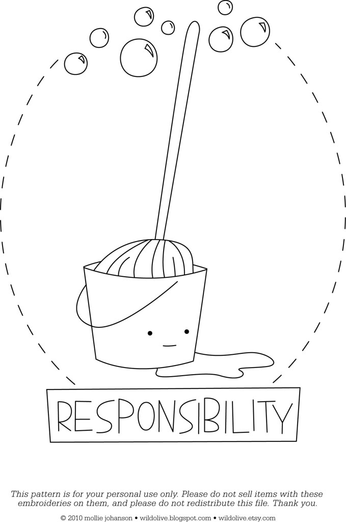 responsibility coloring pages - photo#23