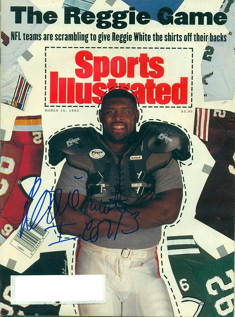 March 15, 1993, Autographed Sports lllustrated by Reggie White